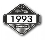 VIntage Edition 1993 Classic Retro Cafe Racer Design External Vinyl Car Motorcyle Sticker 85x70mm